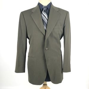 City Streets 40R Olive Wool Blend Blazer